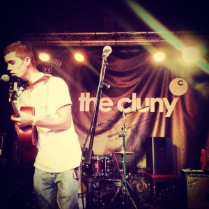 Musician David Smith performing live at the Cluny.